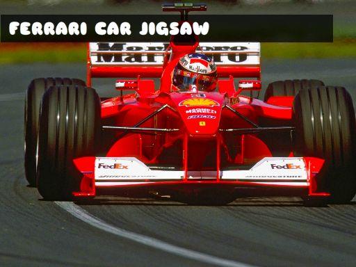 Juega Ferrari Car Jigsaw juego