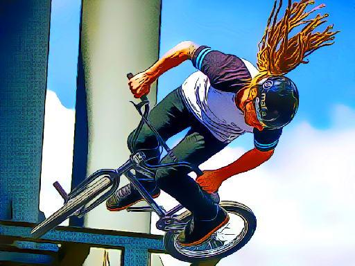 Juega BMX Bikers Jigsaw juego