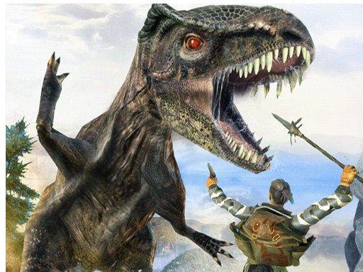 Juega Dinosaur Hunting Dino Attack Jigsaw juego