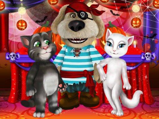 Juega Talking Tom And Angela Halloween Party juego