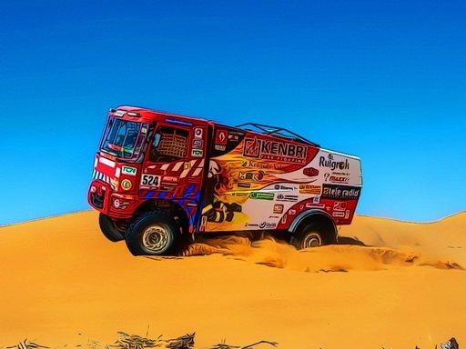 Juega Desert Rally Puzzle juego