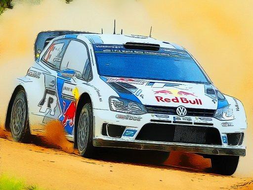 Juega Rally Car Driving Jigsaw juego