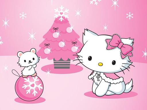 Juega Hello Kitty Christmas Jigsaw Puzzle juego