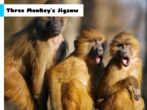 Juega Three Monkey's Jigsaw juego