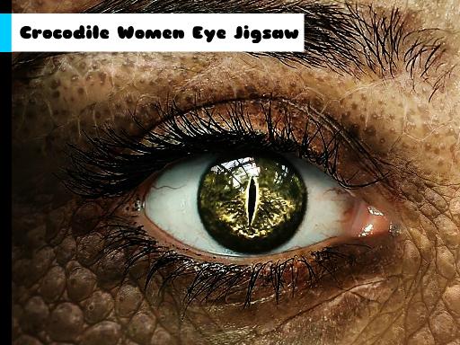 Juega Crocodile Women Eye Jigsaw juego