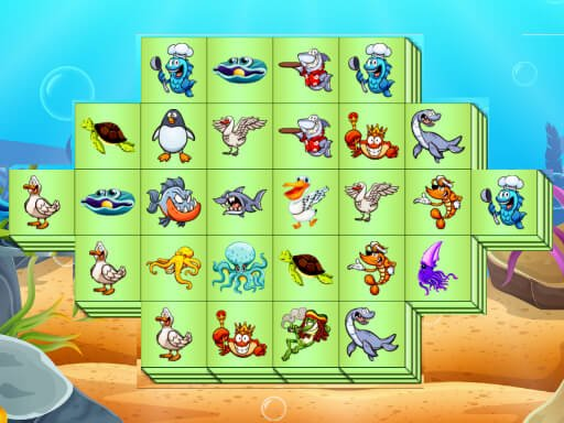 Juega Aquatic Triple Mahjong juego