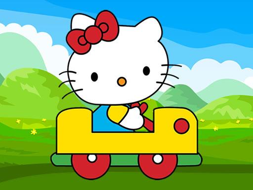 Juega Hello Kitty Car Jigsaw juego
