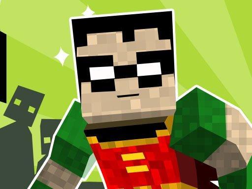 Juega Teen Titans Go Minecraft Teenage Runner 3D juego