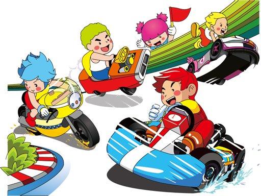 Juega Cartoon Kart Puzzle juego