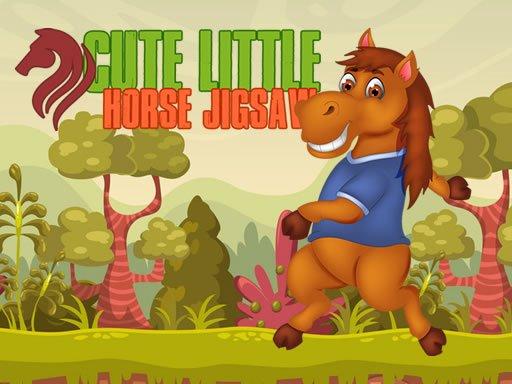 Juega Cute Little Horse Jigsaw juego