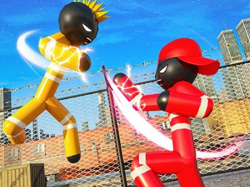 Juega Stickman Police VS Gangsters Street Fight juego