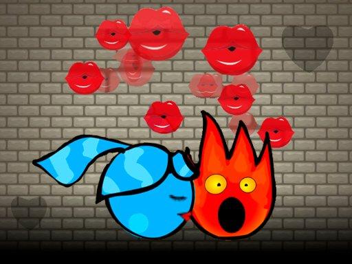 Juega Fireboy and Watergirl Kiss juego